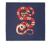 Halstuch aus Seidensablé mit Königsnatter-Print