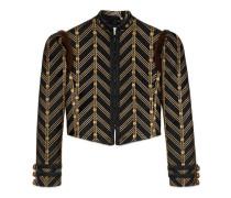 Jacke aus metallischem Jacquard