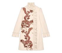 Mantel aus Wolle mit Drachen-Stickerei