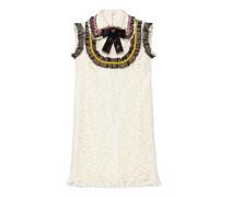 Kleid aus Cluny-Spitze mit Stickerei