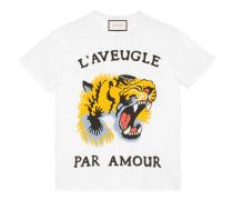 T-Shirt aus Baumwolle mit Tiger-Print