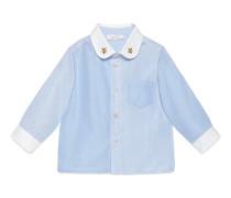 Baby Hemd aus Oxford und gestreifter Baumwolle