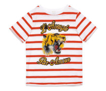 Kinder T-Shirt aus gestreifter Baumwolle