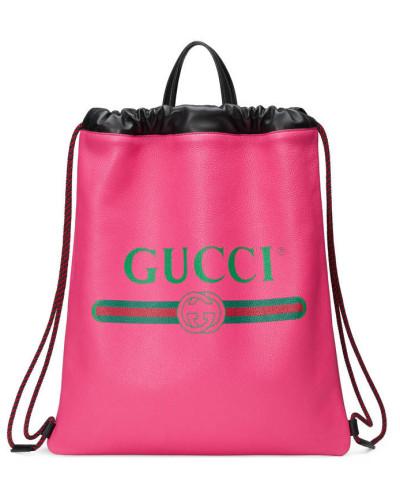 Auslass Echt Gucci Herren Rucksack mit Zugband aus Leder mit Gucci Print Mode Online-Verkauf Verkauf Besuch Neu Rabatt Amazon R6KibAeV49