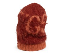 Mütze aus Mohair-Woll-Mischung mit GG Muster