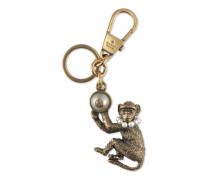 Schlüsselringanhänger Affe mit Glasperlen GG