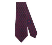 Krawatte aus Seide mit GG Ketten