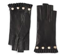 Fingerloser Handschuh aus Leder mit Nieten