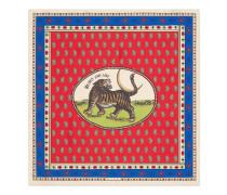 Vierecktuch aus Seide mit Tiger-Mond-Karten-Print