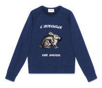 Pullover aus Baumwolle mit Hase