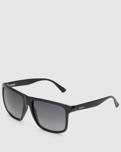 gucci herren sonnenbrille mit quadratischem gespritztem. Black Bedroom Furniture Sets. Home Design Ideas