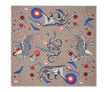 Schal aus Seide mit Space Animals-Print