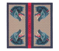 Halstuch aus Seide mit Web- und Wolf-Print