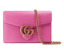 Mini-Brieftasche GG Marmont aus Leder mit Kette