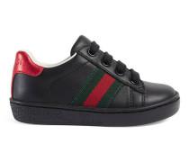 Low-Top Sneaker aus Leder mit Webstreifen