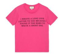 T-Shirt mit Liebesbrief-Print