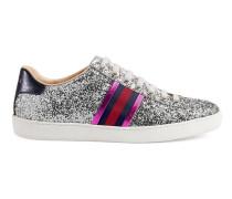 Low-Top-Ace Sneaker aus Glitzerstoff