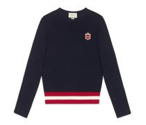 Pullover aus Baumwollstrick mit Stickerei