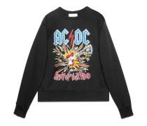 Pullover aus Baumwolle mit AC/DC-Print