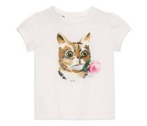 Baby T-Shirt mit Katzen- und Blumen-Print