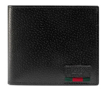 Portemonnaie aus Leder mit Webstreifen