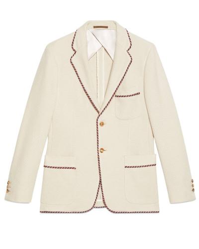 Jacke aus gestricktem Jersey mit Patch