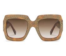 Eckige Oversize Sonnenbrille