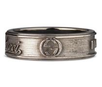Breiter Ring mit Gucci Logo