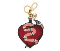 Schlüsselkette mit Herz und Königsnatter