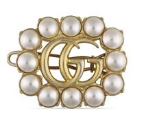Haarspange mit Doppel G und Perlen