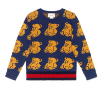 Kinder Pullover aus Bären-Jacquard