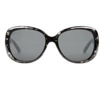 Übergroße Sonnenbrille aus Optyl