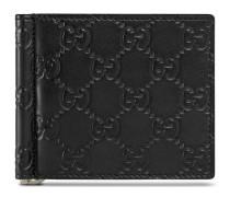 Brieftasche mit Geldscheinklammer und Leder Gucci Signature