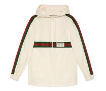 Jacke aus Baumwolle mit Etikett