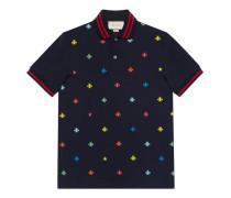 Poloshirt aus Baumwolle mit Bienen und Sternen