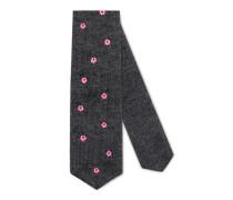 Krawatte aus Kaschmir mit Blumen