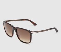 rechteckige Sonnenbrille aus Azetat mit T-Stück