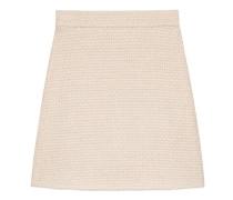 A-Linien-Rock aus leichtem Tweed