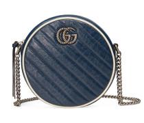 Runde GG Marmont Mini-Schultertasche