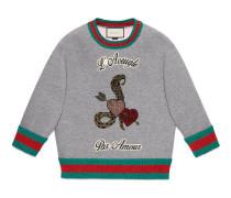 Pullover mit L'Aveugle Par Amour-Print