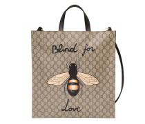 Weicher Shopper aus GG Supreme mit Bienenprint