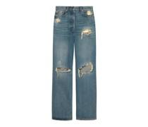Ripped Jeans aus Bio-Denim mit ökologischer Waschung