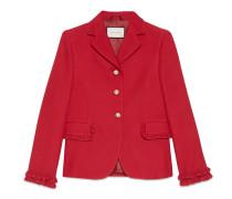 Jacke aus Wolle und Seide mit einfacher Knopfreihe
