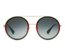 Sonnenbrille mit rundem Rahmen aus Metall