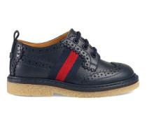 Brogue-Schuh aus Leder mit Webstreifen