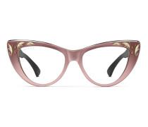 Übergroße Brille in Katzenaugenform