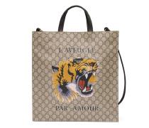 Weicher Shopper aus GG Supreme mit Tigerprint