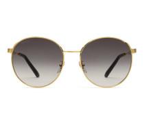 Sonnenbrille aus Metall mit speziell geformtem rundem Rahmen