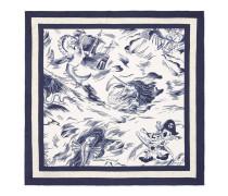 Einstecktuch aus Seide mit Seesturm-Print
