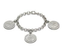 Armband in Silber mit Münz-Anhängern